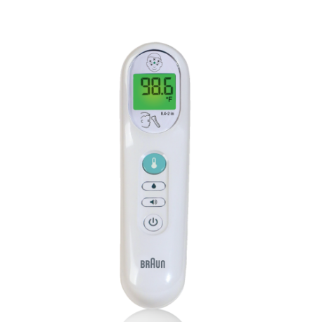 Braun No Touch thermometer temperature display